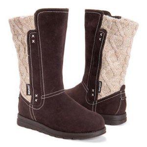 Muk Luks Chocolate Stacy Boot-Women NEW Re…